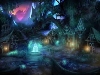 Elven Village by JKRoots