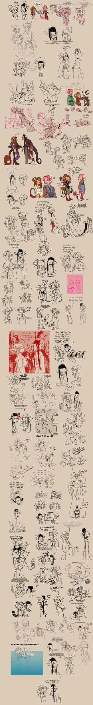 Sketchdump MADNESS for Shin by snowkatt101