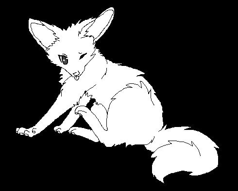 Wolf Lineart : Free fox wolf lineart by rayilex on deviantart