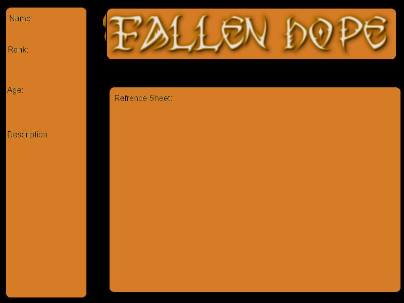 Fallen Hope Application Sheet by Rayilex