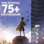Birds Brushpack 75+ (sparrows, hawks, crows, pige