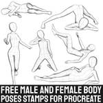 Free Male and Female Body Poses for Procreate