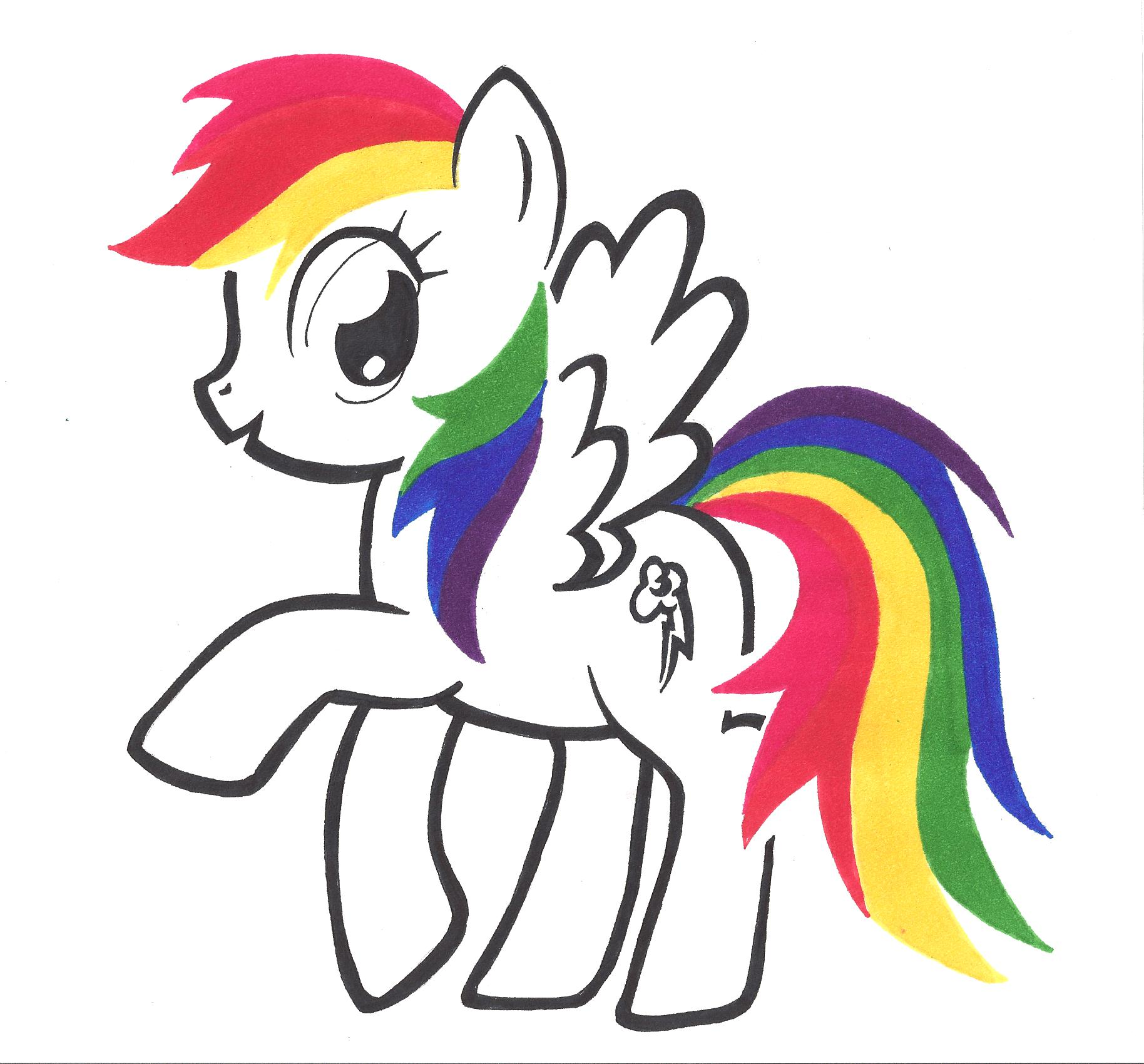 Rainbow dash by hitaiwoaisenai on deviantart for Rainbow dash cake template
