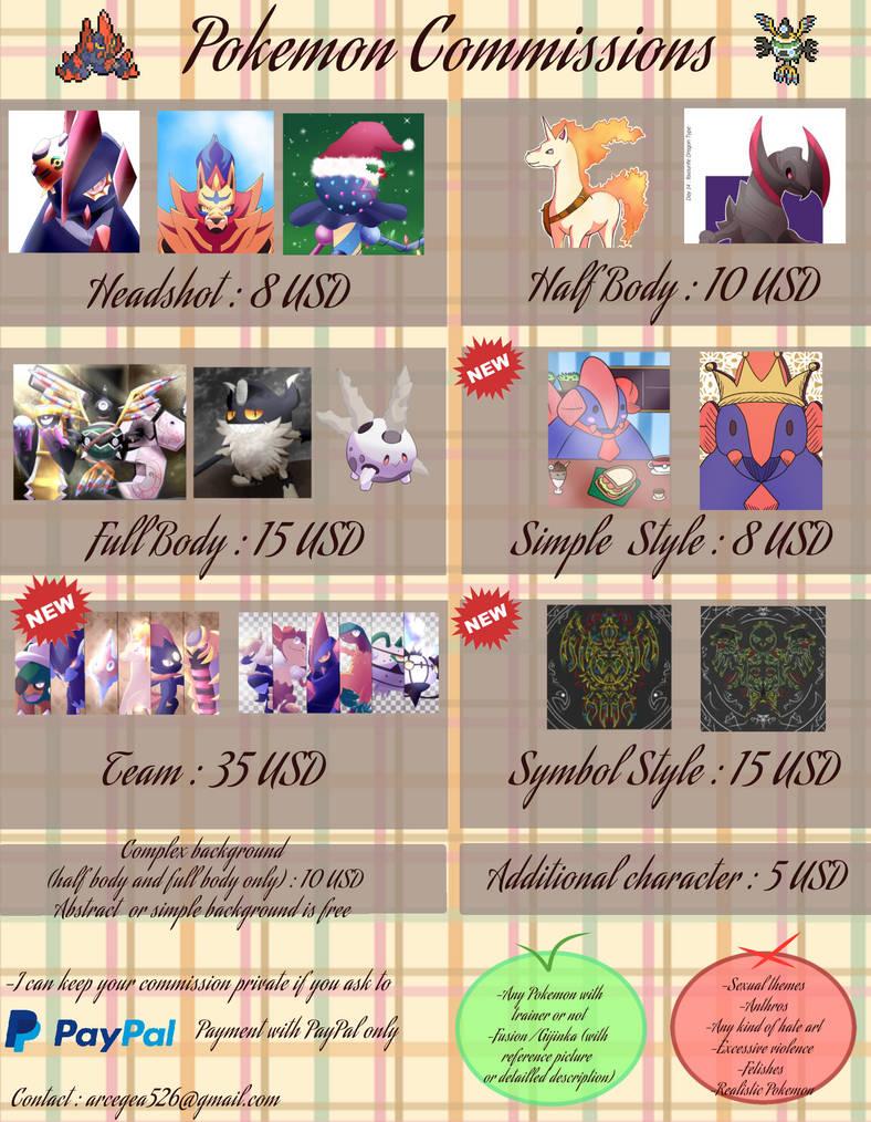 New commission sheet