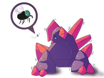 Gigalith is afraid of the fly