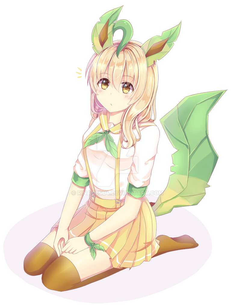 Leafeon human version by rinadesu4 on DeviantArt