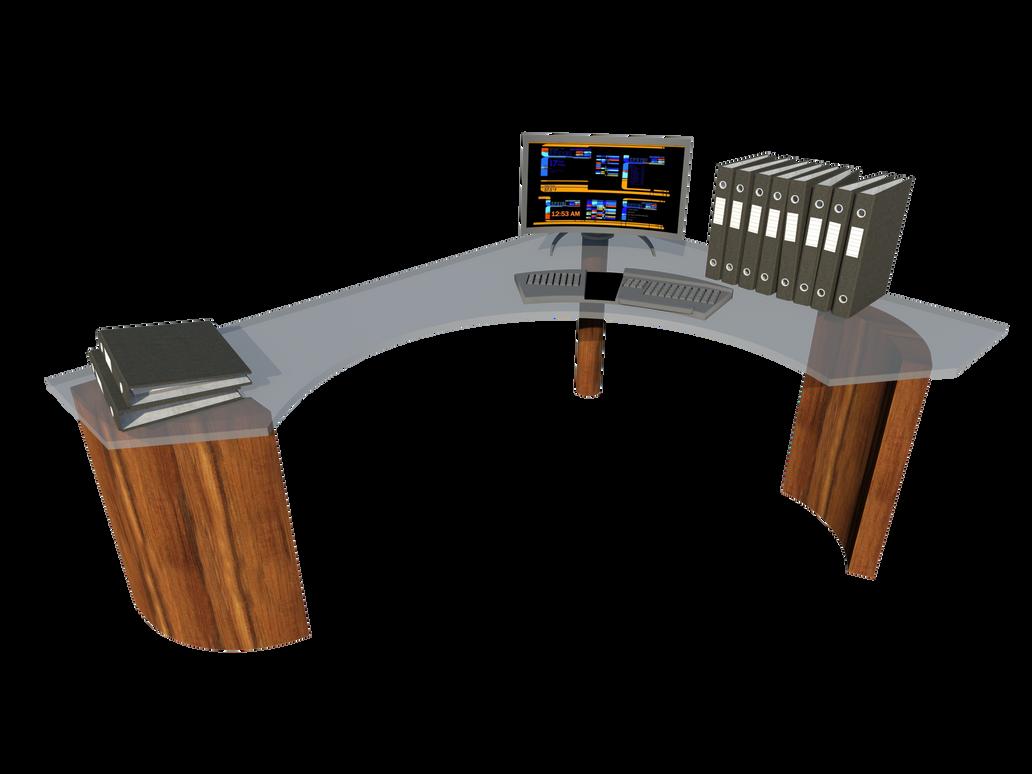 futuristic desk futuristic