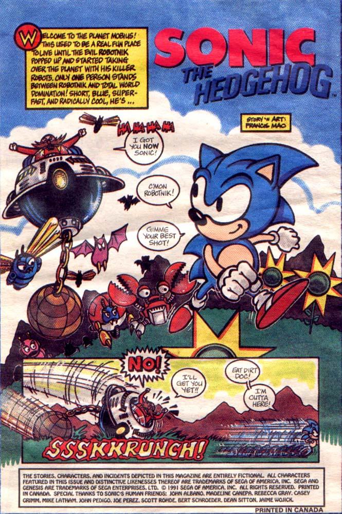 Sonic Promotional Comic Page 1 By Legendysonicfan On Deviantart