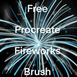Free Procreate Fireworks Brush