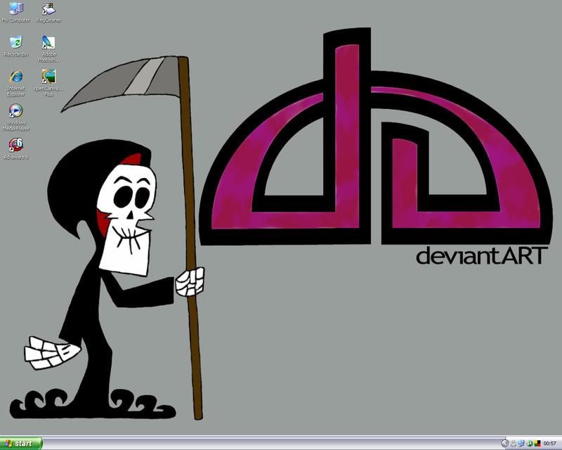 A Very Grim Desktop by satanspawn80