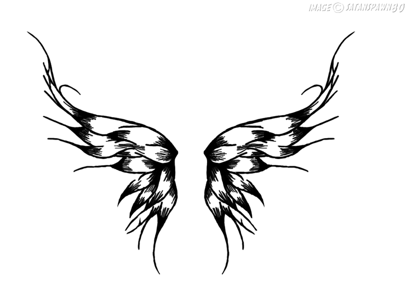 wings tattoo by satanspawn80 on deviantart. Black Bedroom Furniture Sets. Home Design Ideas