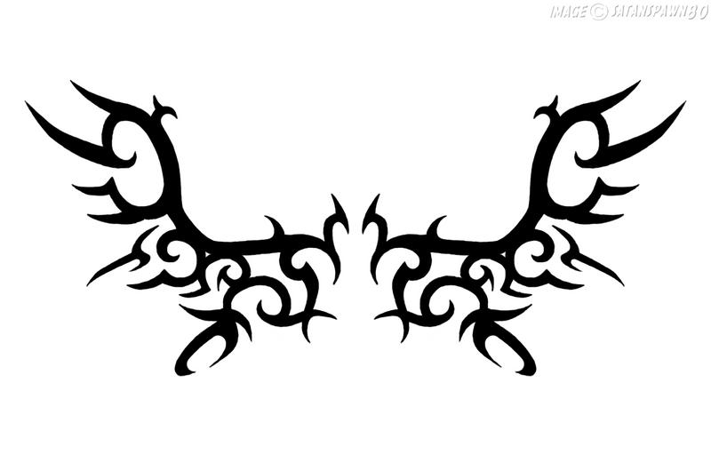 tribal angel wings tattoo by satanspawn80 on deviantart. Black Bedroom Furniture Sets. Home Design Ideas