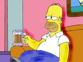 Homer J. Simpson by satanspawn80