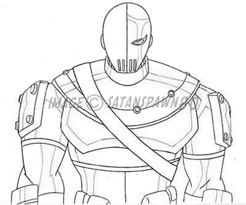 Slade Teen Titans Drawings Sketch Coloring Page