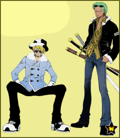 Sanji and Zoro by AneaKitsu