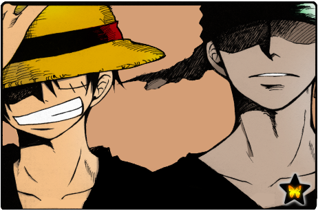 Luffy and Zoro by Anea... Cool Lighter Drawings