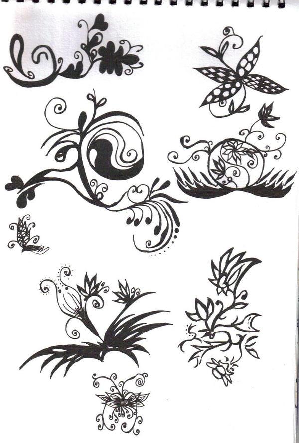 emo flowers3 by sumiko90 on deviantart. Black Bedroom Furniture Sets. Home Design Ideas