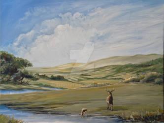 Deer Landscape in Acrylic