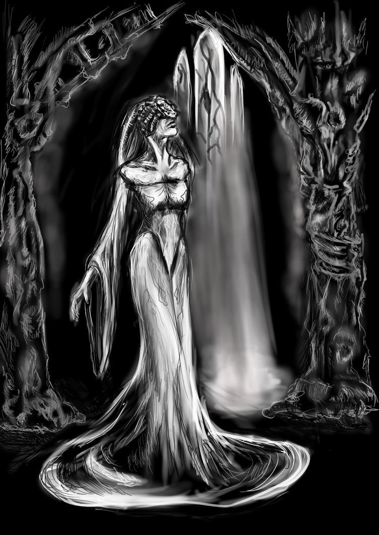 The Priestess (First Night, Superbia) by natalynovak