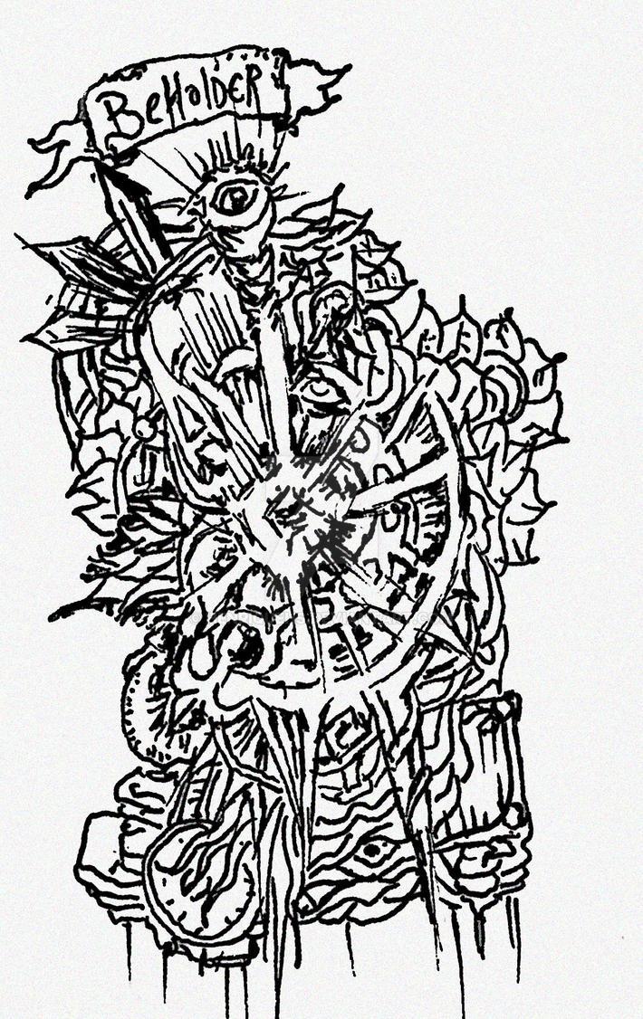 doodles Beholder eyes 001 by HenriqueHs