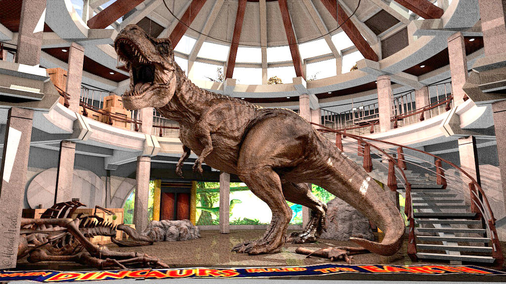 Jurassic Park Visitor Center Rotunda by Mcflyhigh1 on DeviantArt