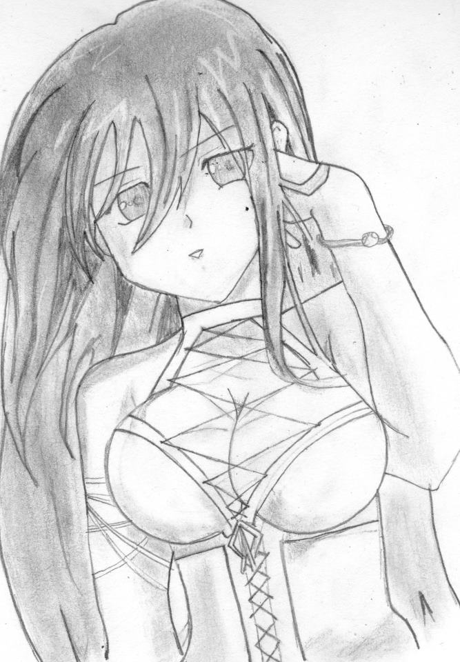 Dibujos Anime: Dibujo Anime A Lapiz By IVAN1904 On DeviantArt