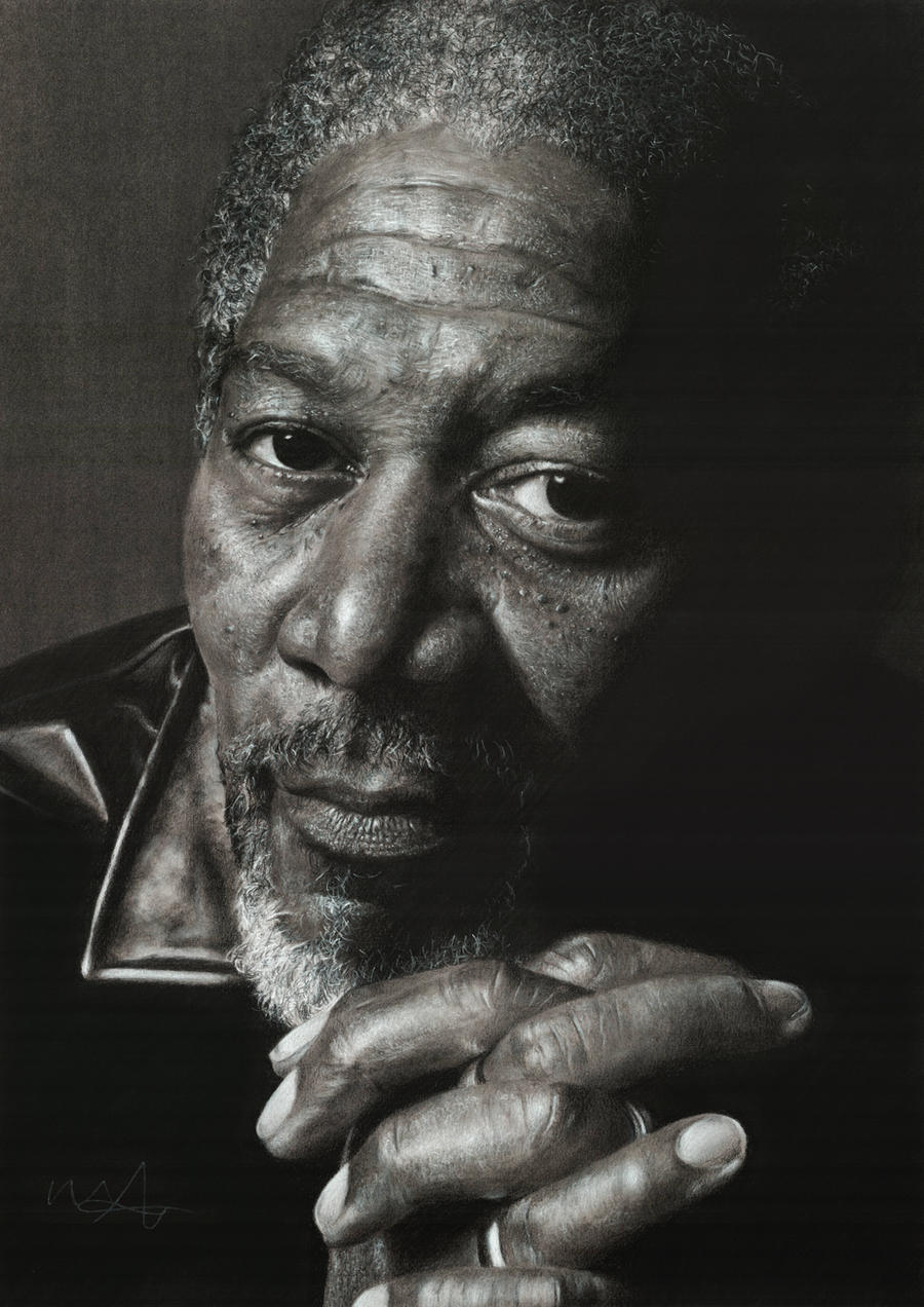 Morgan Freeman by scratch12