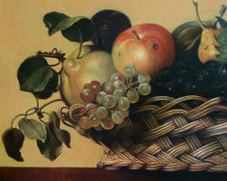 Copy of a section of Caravaggio's Basket of Fruit