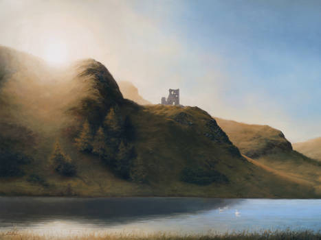 St Margaret's Loch with St Anthony's Chapel Ruins