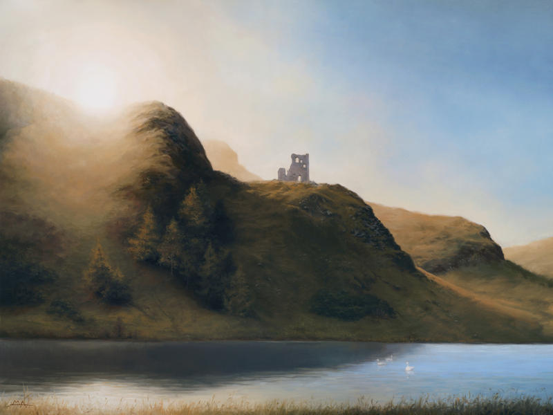 St Margaret's Loch with St Anthony's Chapel Ruins by Mark-Anstis