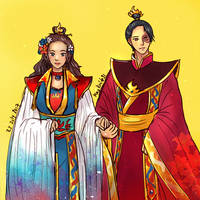 Zutara Week Day 1 2017- Fire Lady and Lord by LiniAriva