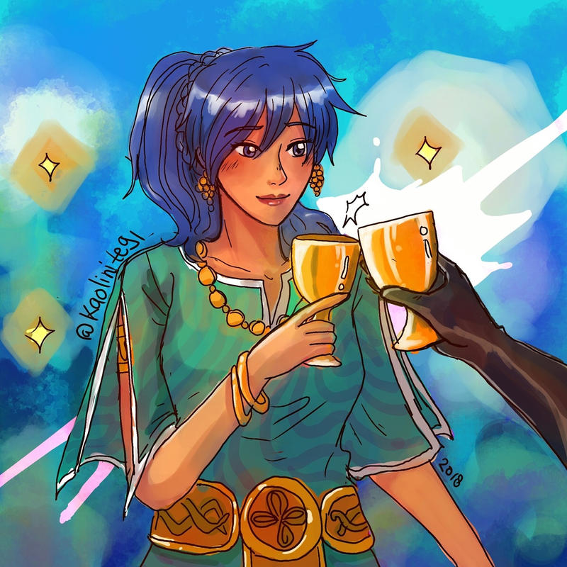 The Arcana: Kaori and the two of cups by LiniAriva