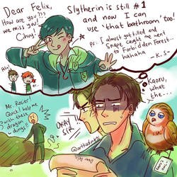 HPHM: Year 4- News for Slytherin's Ex-Prefect