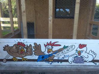 Chicken Cage by fauna-art