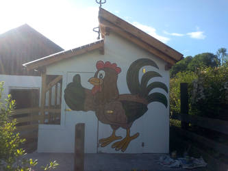 Chicken Cage Front by fauna-art