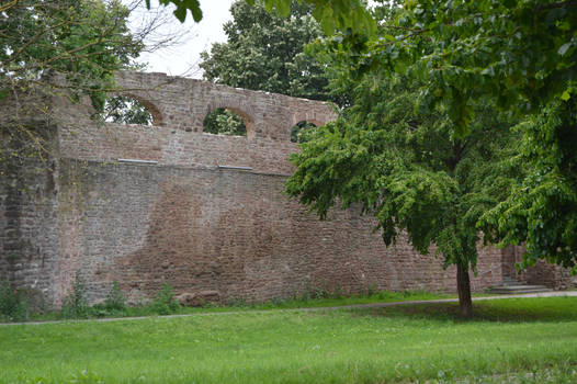 Old City wall Ladenburg Germany
