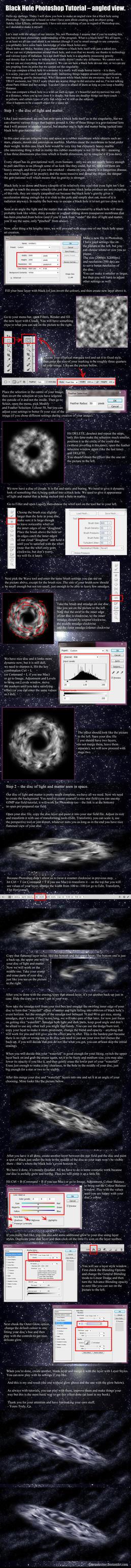 Black Hole Photoshop Tutorial (angled). by CzarnaArcher