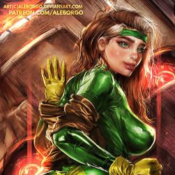 Rogue from X-MEN - Patreon - Term 1 - SFW VERSION by AleBorgo