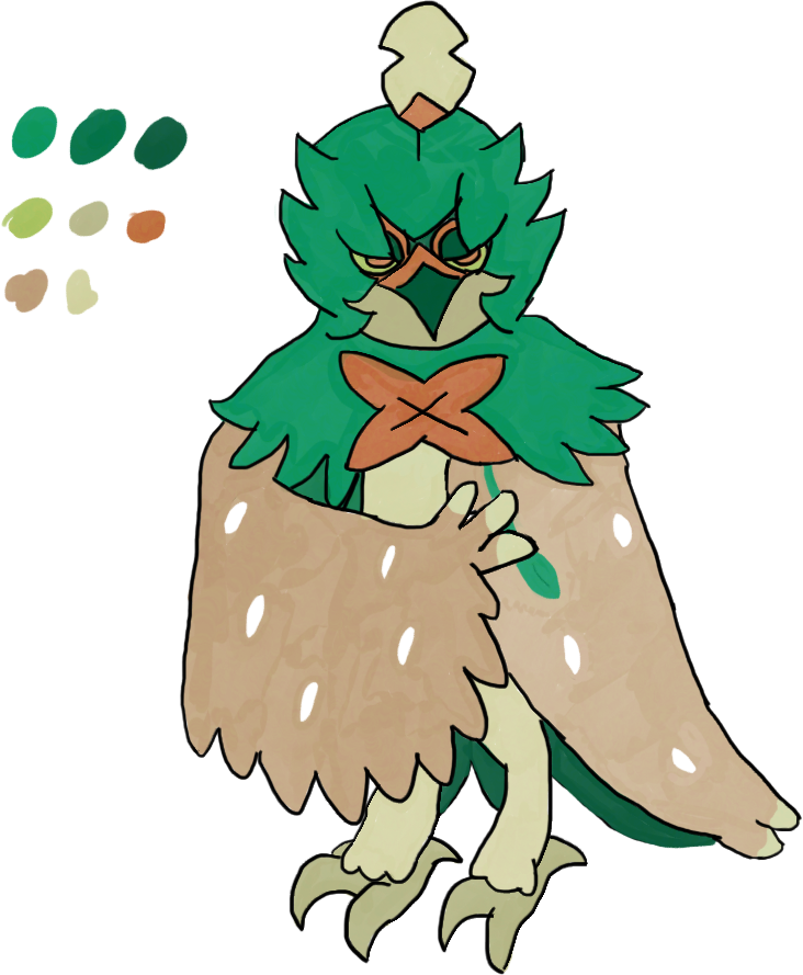 Tablet Practice - Decidueye by 326and966