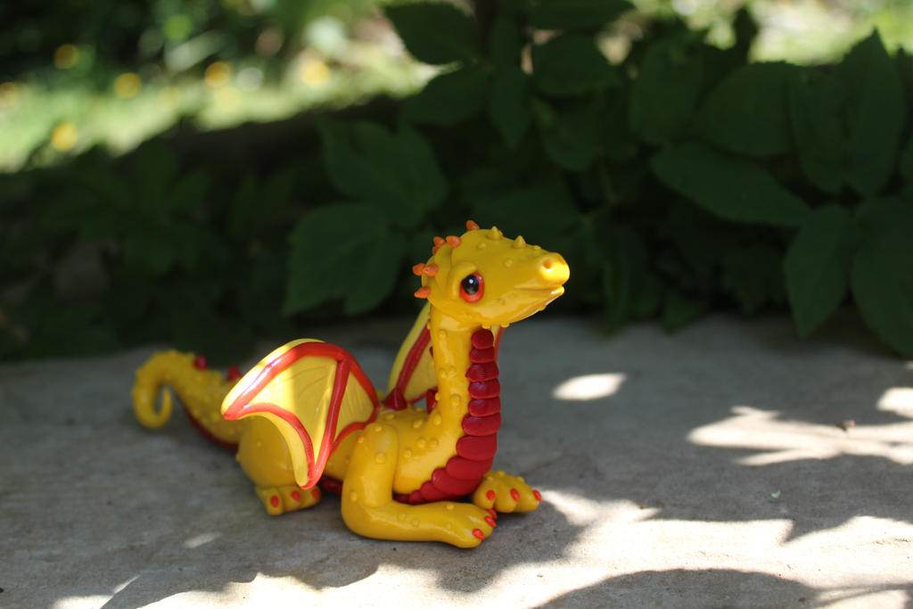 Yellow Red Polymer Clay Dragon By RaLaJessR On DeviantArt
