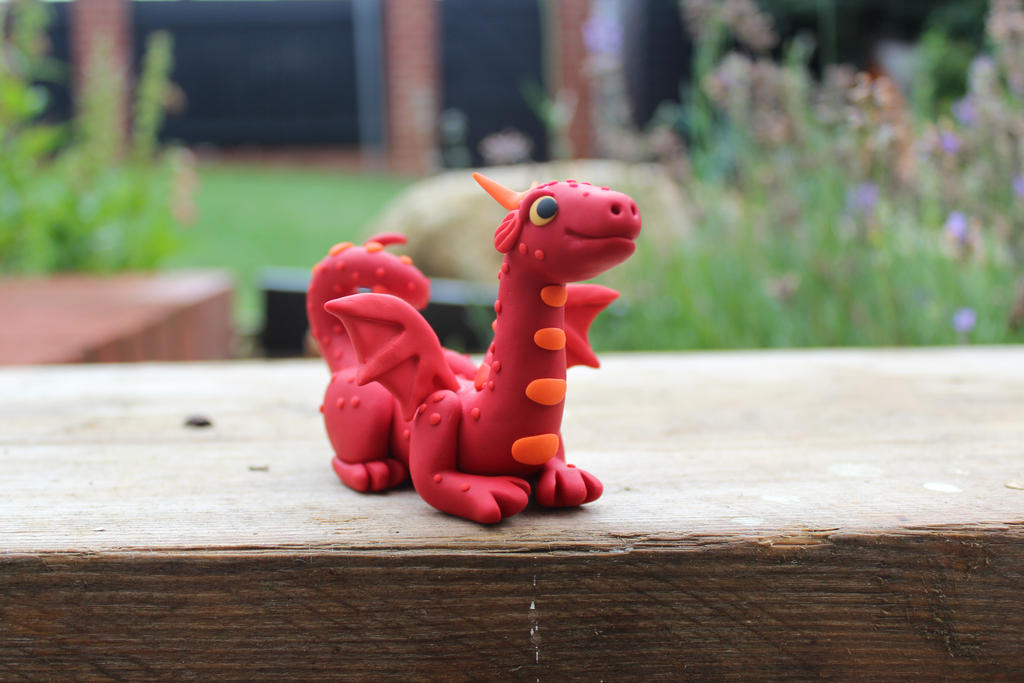 Red Polymer Clay Dragon By RaLaJessR On DeviantArt