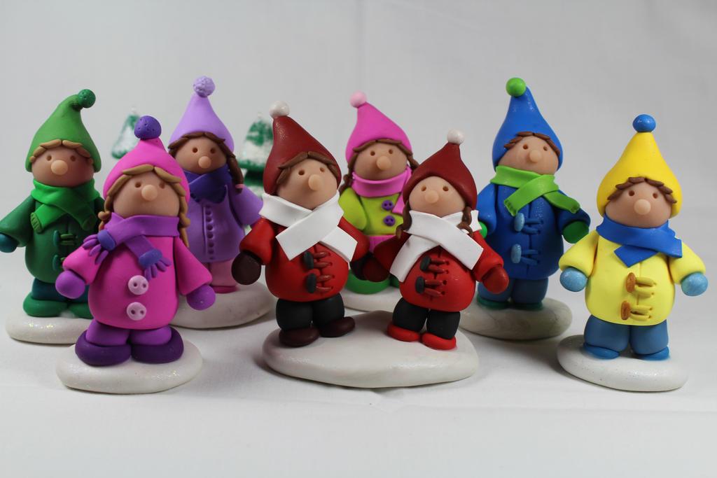 Polymer Clay Christmas Children by RaLaJessR on DeviantArt