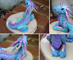 Mokume Gane Dragon Sculpture - Collage by RaLaJessR