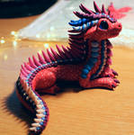 Red Purple and Blue Dragon