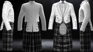 Highlander's Prince Charlie in White
