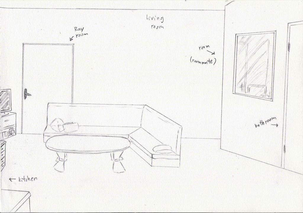 flat 2 Living Room by miawell1990
