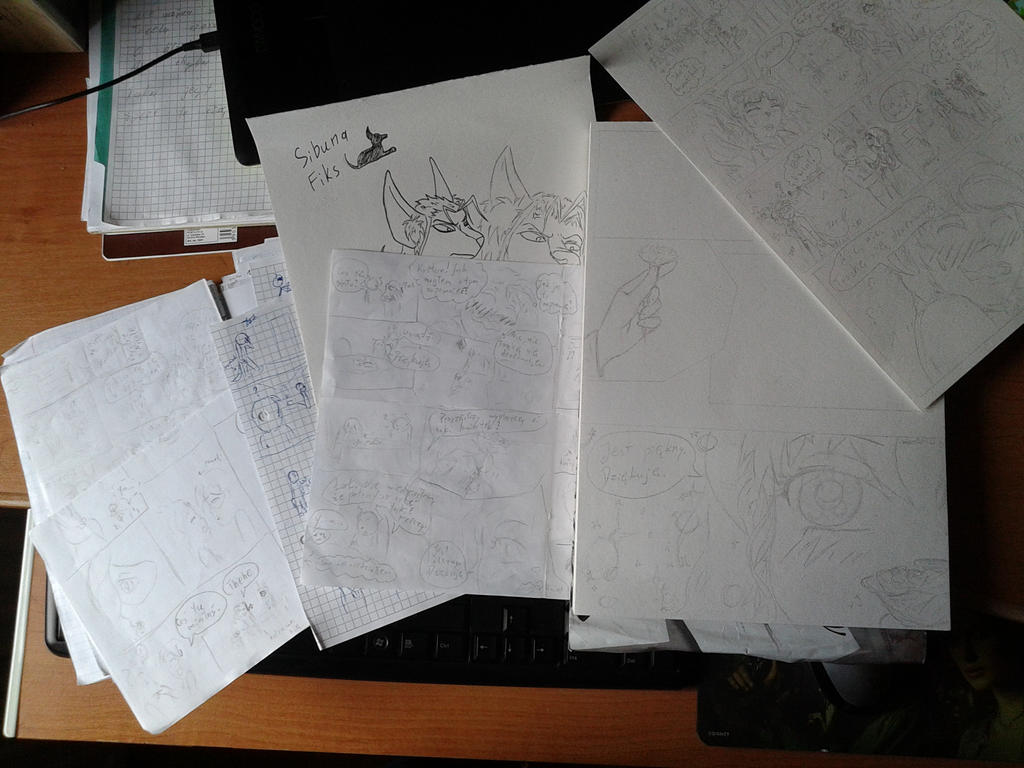 plany szkice rysunki by miawell1990