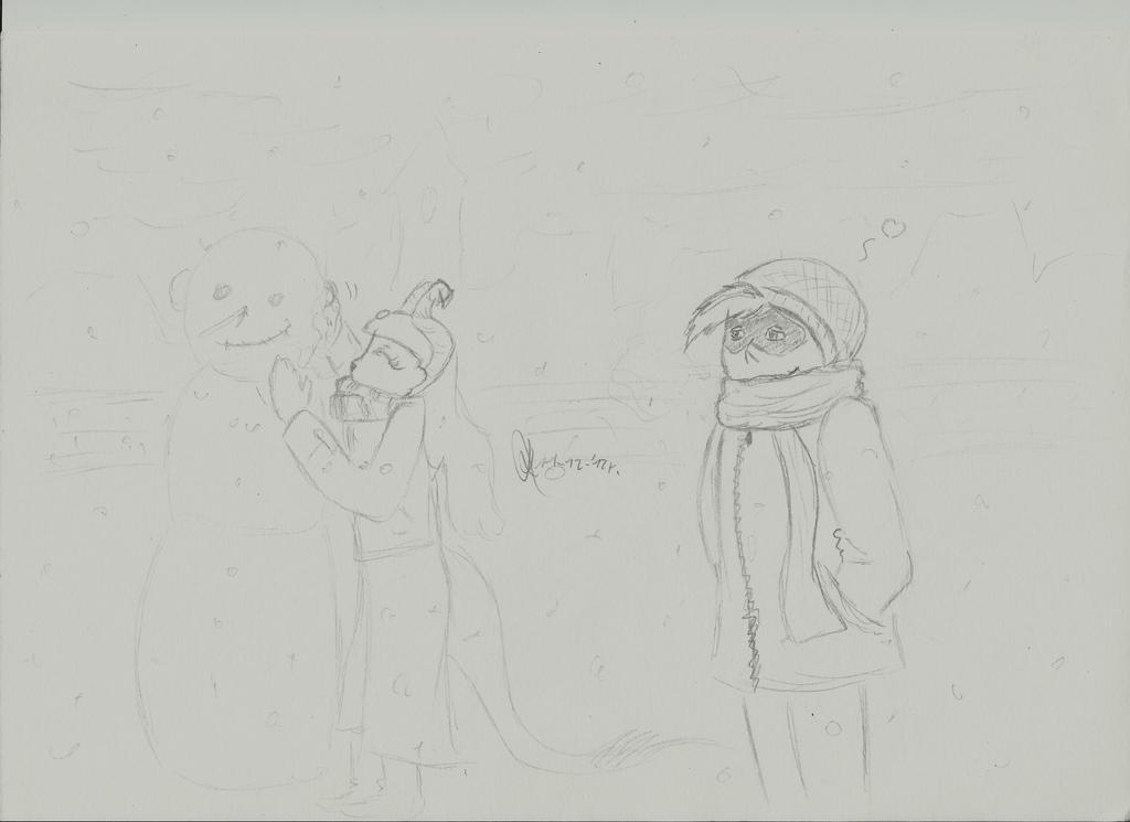 Snowman by miawell1990