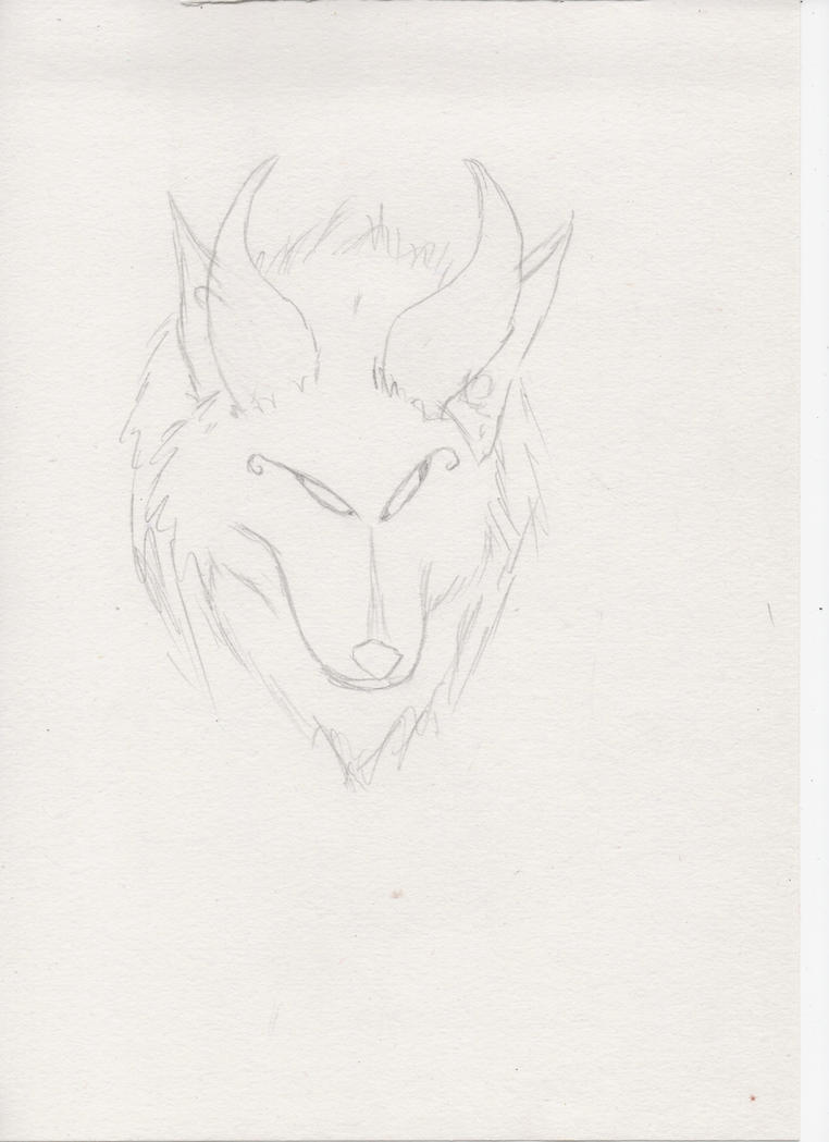 Wolf with horns 2 by miawell1990