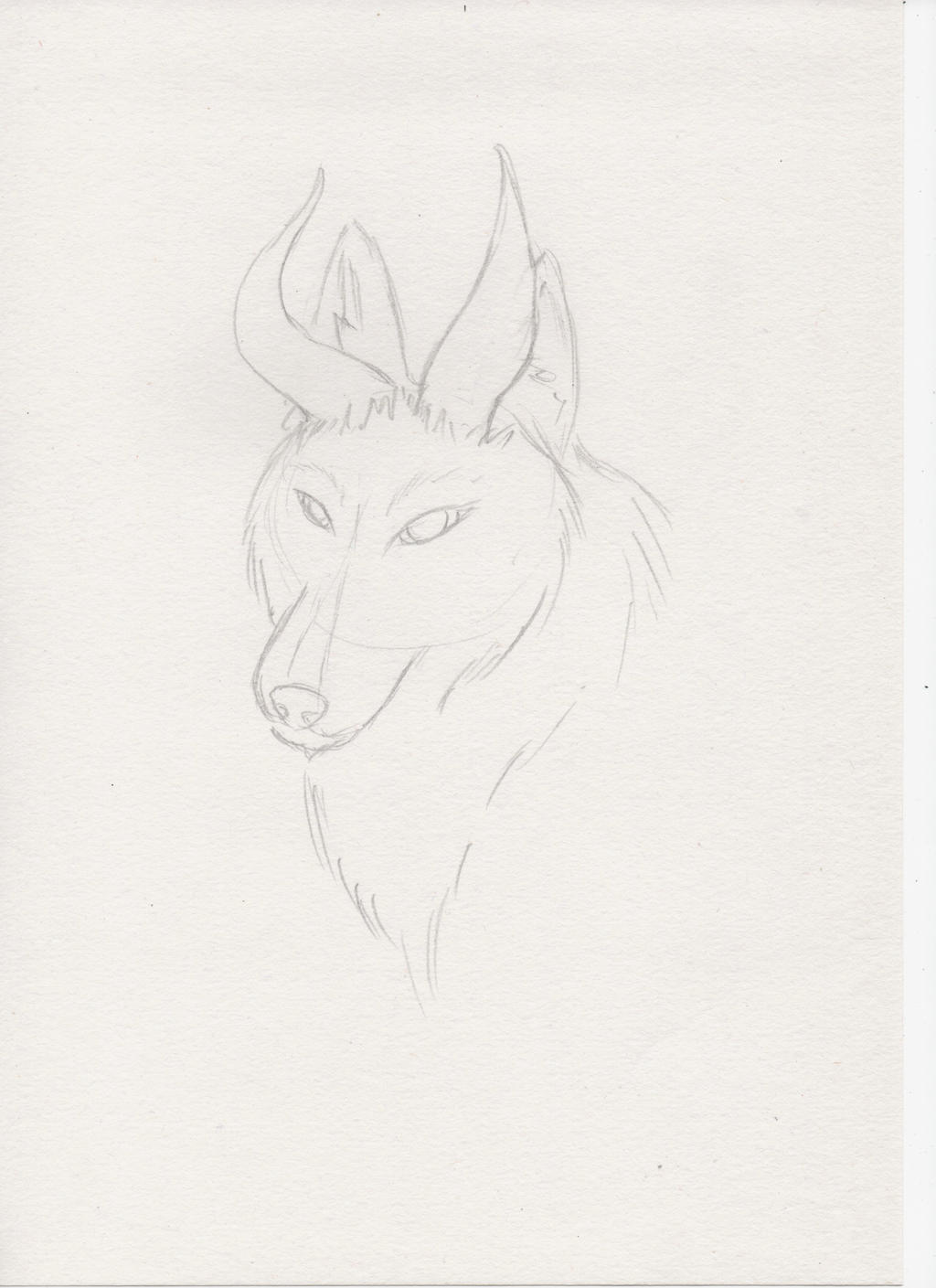 Wolf with horns 4 by miawell1990